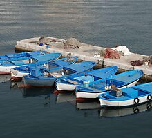 Fishing Boats, Gallipoli Harbour  by jojobob
