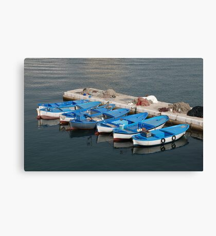 Fishing Boats, Gallipoli Harbour  Canvas Print