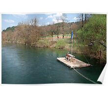 River Raft near Planina  Poster
