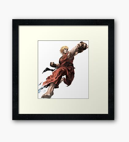 Ken from Street Fighter ! Framed Print