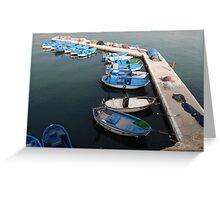 Fishing Boats at Gallipoli Harbour  Greeting Card