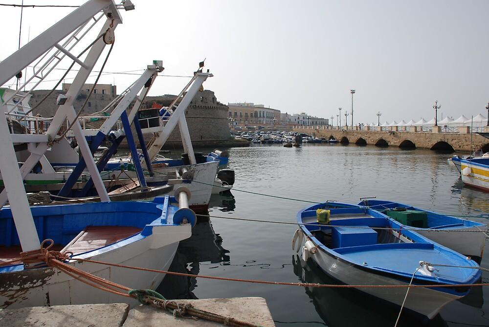 Fishing Boats in Gallipoli Harbour  by jojobob