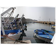 Fishing Boats in Gallipoli Harbour  Poster