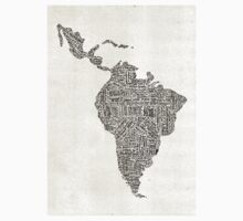 lettering map of Latin America 2015 Kids Clothes