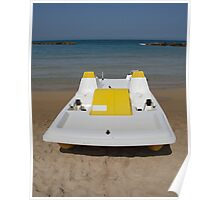 Yellow and White Pedalo  Poster