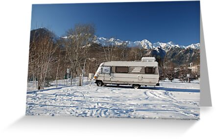 A-Class Motorhome in Snow  by jojobob