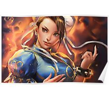 Chun Li From Street Fighter Poster