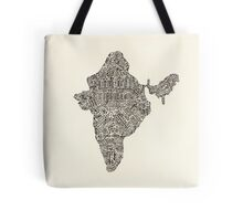 Lettering map of India Tote Bag