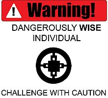 Warning! Dangerously Wise Sign Photographic Print