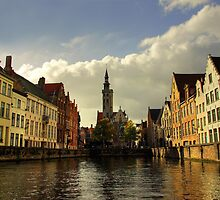 Afternoon colors in Brugge by Béla Török