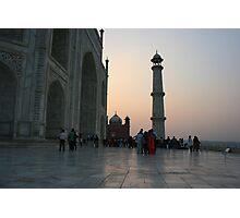 Taj Mahal at sunset Photographic Print