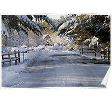 Early Morning Snow in Wells, Maine Poster