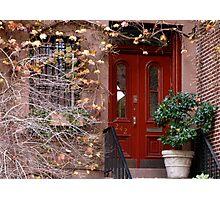 City Red Door Photographic Print