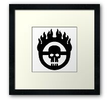 Mad Max - Warboy Skull Wheel  Framed Print