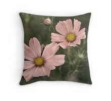 Old-Fashioned Flowers Throw Pillow