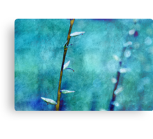 aqua and indigo Metal Print