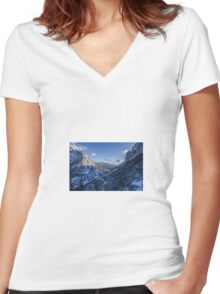 Rocky Mountains Women's Fitted V-Neck T-Shirt