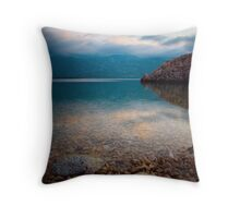 Reflection in the sea Throw Pillow