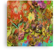 Dragonflies and Roses Hips Canvas Print