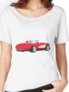1959 Corvette Red Racer Women's Relaxed Fit T-Shirt