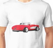 1959 Corvette Red Racer Unisex T-Shirt