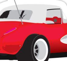 1959 Corvette Red Racer Sticker