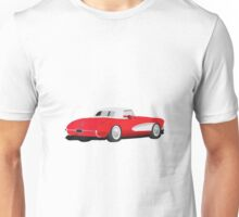 1959 Corvette Red Unisex T-Shirt