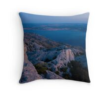 The night is taking over III Throw Pillow