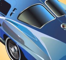1963 Corvette Stingray Split Window Blue on Yellow Sticker