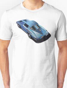 1963 Corvette Split Window Fastback Blue T-Shirt