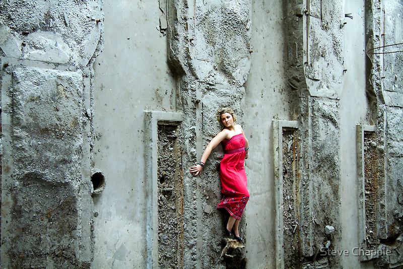 Climbing the wall. by Steve Chapple