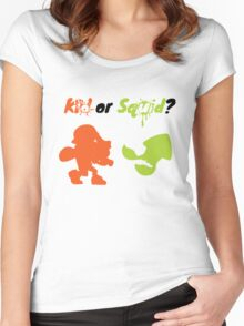 Kid or Squid? Women's Fitted Scoop T-Shirt