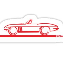 1965 Corvette Stingray Convertible Red Sticker