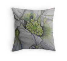 lovely shadows on flower Throw Pillow