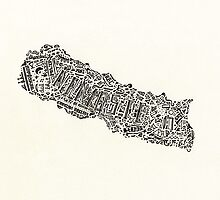 Lettering map of Nepal by marianabeldi