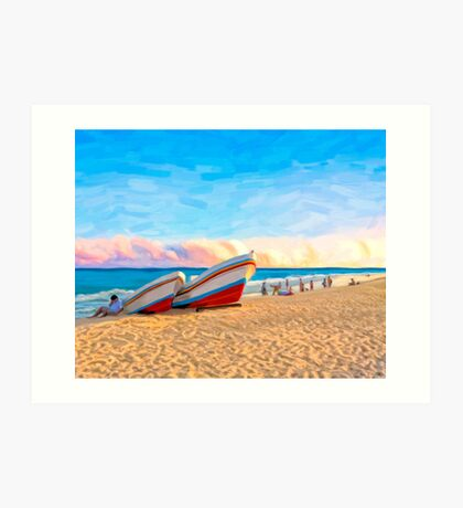Tropical Sunset On The Beach At Playa Del Carmen Mexico Art Print