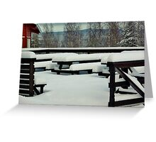 Winter Tables Greeting Card