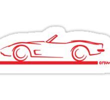 1973 Corvette Convertible Red Sticker
