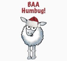 "Cartoon Christmas sheep ""BAA Humbug"" by graphicdoodles"