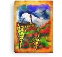 Cloudy Landscape Colors Canvas Print