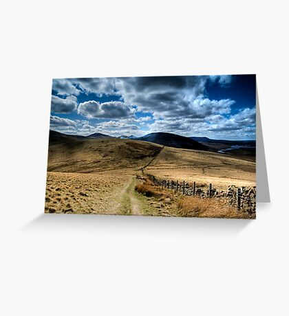 Pentland Hill View Greeting Card
