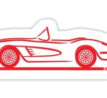 1958 Corvette Convertible Red Sticker