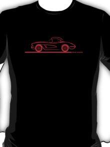 1958 Corvette Hardtop Red T-Shirt