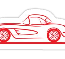 1958 Corvette Hardtop Red Sticker