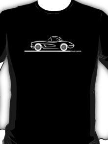 1958 Corvette Hardtop White T-Shirt