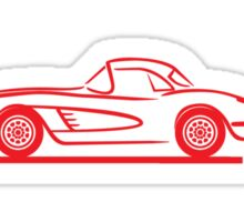1959 1960 Corvette Hardtop Red Sticker