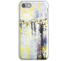 Artificial Lights, abstract city street landscape iPhone Case/Skin
