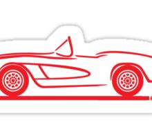1961 1962 Corvette Convertible red Sticker