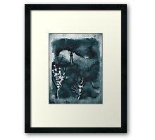 Cloudy Landscape Blue Green Framed Print