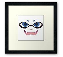 Inkling Face (blue) Framed Print